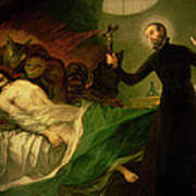 Saint Francis Borgia Helping A Dying Impenitent Poster