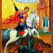 Saint George Poster by Munir Alawi