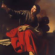 Saint John The Evangelist At Patmos Poster