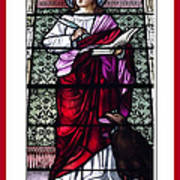 Saint John The Evangelist Stained Glass Window Poster