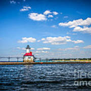 Saint Joseph Lighthouse And Pier Picture Poster