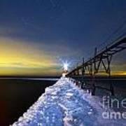 Saint Joseph Pier At Night Poster
