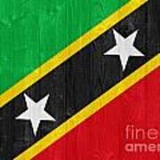 Saint Kitts And Nevis Flag Poster
