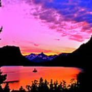 Saint Mary Lake Twilight Poster
