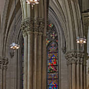 Saint Patrick's Cathedral Stained Glass Window Poster