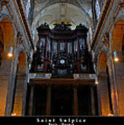 Saint Sulpice Poster