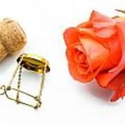 Saint Valentine Rose Poster