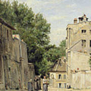 Saint-vincent Street, Montmartre Oil On Canvas Poster
