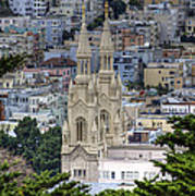 Saints Peter And Paul Church In San Francisco Poster