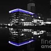 Salford Quay Reflection Poster