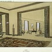 Salon, From Repertoire Of Modern Taste Poster by Jacques-Emile Ruhlmann