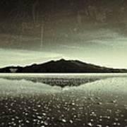 Salt Cloud Reflection Black And White Vintage Poster