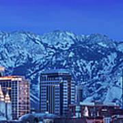 Salt Lake City Skyline Poster by Brian Jannsen
