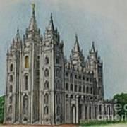 Salt Lake City Temple I Poster