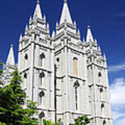 Salt Lake Mormon Temple Poster