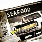 Salty Oysters - Textured Poster