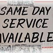 Same Day Service Available Poster