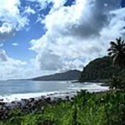Samoan Coastline Poster