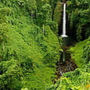 Samoan Waterfall Poster