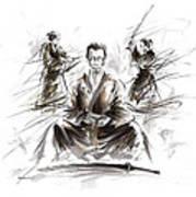 Samurai Meditation. Poster