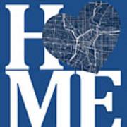 San Antonio Street Map Home Heart - San Antonio Texas Road Map I Poster