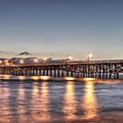 San Clemente Pier At Night Poster by Richard Cheski