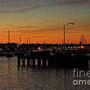 San Diego Harbor Sunset Poster