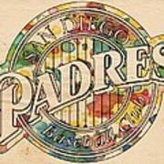 San Diego Padres Poster Art Poster