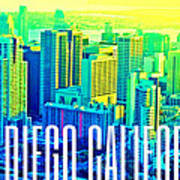 San Diego Postcard Poster