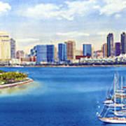 San Diego Skyline With Meridien Poster