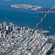 San Francisco Bay Bridge Aerial Photograph Poster
