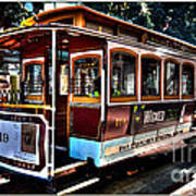 San Francisco Cable Car Painting Poster