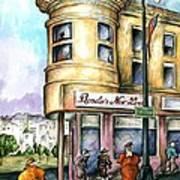 San Francisco North Beach - Watercolor Art Poster