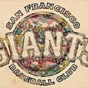 San Francisco Giants Poster Vintage Poster