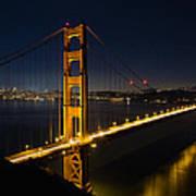 San Francisco Golden Gate Bridge At Blue Hour Poster