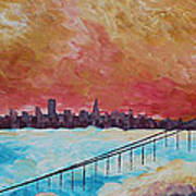 San Francisco Golden Gate Bridge In The Clouds Poster