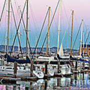 San Francisco Harbor At Pier 39 Poster by Artist and Photographer Laura Wrede