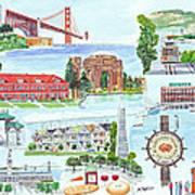 San Francisco Highlights Montage Poster