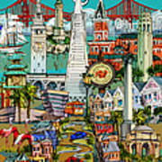 San Francisco Illustration Poster