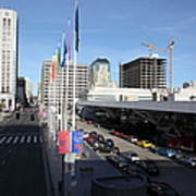 San Francisco Moscone Center And Skyline - 5d20511 Poster