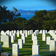 San Francisco National Cemetery In El Presidio Poster