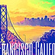 San Francisco Postcard Poster