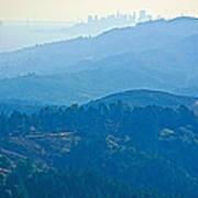 San Francisco Skyline From Mount Tamalpias-california Poster