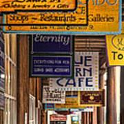 San Francisco Street Shops Poster