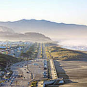 San Francisco Morning - The Great Highway Ocean Beach Poster