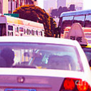 San Francisco Traffic Jam Poster by Artist and Photographer Laura Wrede