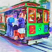 San Francisco Trams 3 Poster by Yury Malkov
