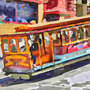 San Francisco Trams 5 Poster by Yury Malkov