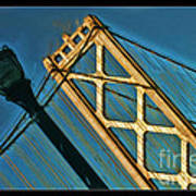 San Francisico Bay Bridge And Light Poster