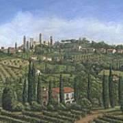San Gimignano Tuscany Poster by Richard Harpum